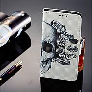 お買い得  携帯電話ケース-ケース 用途 Sony Xperia XZ2 / Xperia XZ2 Compact カードホルダー / ウォレット / スタンド付き フルボディーケース スカル ハード PUレザー のために Xperia XZ2 / Xperia XA2 / Sony Xperia