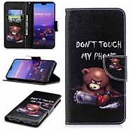 cheap Daily Deals-Case For Huawei P20 lite P20 Pro Card Holder Wallet with Stand Flip Pattern Full Body Cases Word / Phrase Hard PU Leather for Huawei P20