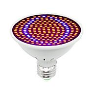 voordelige Kweeklampen-1pc 30W 1600lm E26 / E27 Groeiende gloeilamp 200 LED-kralen SMD 5730 Decoratief Blauw Rood 85-265V
