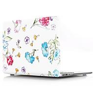 """お買い得  MacBook 用ケース/バッグ/スリーブ-MacBook ケース のために フラワー プラスチック 新MacBook Pro 15"""" / 新MacBook Pro 13"""" / MacBook Pro 15インチ"""