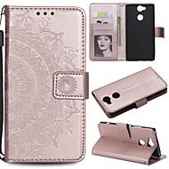 preiswerte Handyhüllen-Hülle Für Sony Xperia L2 Xperia L1 Kreditkartenfächer Geldbeutel Flipbare Hülle Ganzkörper-Gehäuse Blume Hart PU-Leder für Sony Xperia Z3