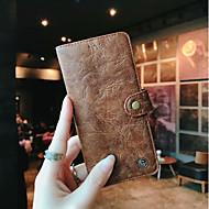 Недорогие Чехлы и кейсы для Galaxy S-Кейс для Назначение SSamsung Galaxy S9 Plus / S9 Кошелек / Бумажник для карт / Флип Чехол Однотонный Твердый Настоящая кожа для S9 / S9