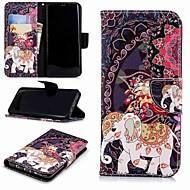 Недорогие Чехлы и кейсы для Galaxy S8 Plus-Кейс для Назначение SSamsung Galaxy S9 Plus / S8 Кошелек / Бумажник для карт / со стендом Чехол Слон Твердый Кожа PU для S9 / S8 Plus