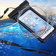 Недорогие Кейсы для iPhone 8-Кейс для Назначение Apple iPhone 7 / iPhone 6 Водонепроницаемый / Кошелек / Защита от влаги Мешочек Однотонный Мягкий ABS + PC для iPhone X / iPhone 8 Pluss / iPhone 8