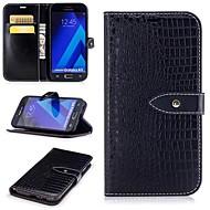 Недорогие Чехлы и кейсы для Galaxy A5(2017)-Кейс для Назначение SSamsung Galaxy A5(2017) Бумажник для карт / Кошелек / со стендом Чехол Однотонный Твердый Кожа PU для A5 (2017)
