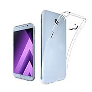 Недорогие Чехлы и кейсы для Galaxy A7(2017)-Кейс для Назначение SSamsung Galaxy A7(2017) Прозрачный Кейс на заднюю панель Однотонный Мягкий ТПУ для A7 (2017)