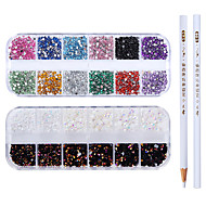cheap -4pcs Outfits Metallic Crystal Wedding / Party Evening / Dailywear Nail Art Drill Kit