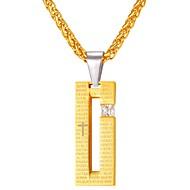 お買い得  -キュービックジルコニア 幾何学模様 ペンダントネックレス  -  ファッション ゴールド, ブラック 55 cm ネックレス 用途 日常