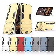 お買い得  携帯電話ケース-ケース 用途 Huawei P20 lite / P20 耐衝撃 / スタンド付き バックカバー 鎧 ハード PC のために Huawei P20 lite / Huawei P20 Pro / Huawei P20