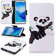 preiswerte Handyhüllen-Hülle Für Huawei Y9 (2018)(Enjoy 8 Plus) Geldbeutel / Kreditkartenfächer / mit Halterung Ganzkörper-Gehäuse Panda Hart PU-Leder für Huawei Y7(Nova Lite+) / Huawei Y6 (2018) / Huawei Y6 (2017)(Nova