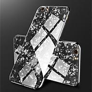 Недорогие Кейсы для iPhone 8-Кейс для Назначение Apple iPhone X / iPhone 8 Покрытие / Зеркальная поверхность Кейс на заднюю панель Мрамор Твердый Закаленное стекло для