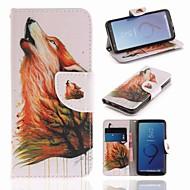 Недорогие Чехлы и кейсы для Galaxy S9-Кейс для Назначение SSamsung Galaxy S9 Кошелек / Бумажник для карт / со стендом Чехол Животное Твердый Кожа PU для S9