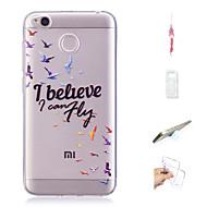 preiswerte Handyhüllen-Hülle Für Xiaomi Redmi 4X Muster Rückseite Wort / Satz / Tier Weich TPU für Xiaomi Redmi 4X