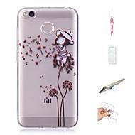 preiswerte Handyhüllen-Hülle Für Xiaomi Redmi 4X Muster Rückseite Sexy Lady / Löwenzahn Weich TPU für Xiaomi Redmi 4X