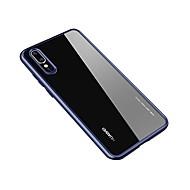 お買い得  携帯電話ケース-ケース 用途 Huawei P20 / P20 Pro クリア バックカバー ソリッド ハード アクリル のために Huawei P20 / Huawei P20 Pro / Huawei P20 lite