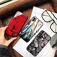 Недорогие Кейсы для iPhone 8-Кейс для Назначение Apple iPhone X / iPhone 8 С узором Кейс на заднюю панель Перья Твердый Закаленное стекло для iPhone X / iPhone 8 Pluss / iPhone 8