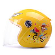 お買い得  -YEMA 206 ハーフヘルメット 子供 男女兼用 オートバイのヘルメット 耐衝撃 / 紫外線カット / 防風