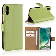 cheap -Case For Apple iPhone X / iPhone 8 Wallet / Card Holder / Flip Full Body Cases Solid Colored Hard PU Leather for iPhone X / iPhone 8 Plus / iPhone 8