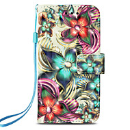 cheap -Case For Apple iPhone X / iPhone 8 Card Holder / with Stand / Flip Full Body Cases Flower Hard PU Leather for iPhone X / iPhone 8 Plus / iPhone 8