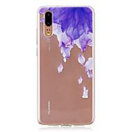 お買い得  携帯電話ケース-ケース 用途 Huawei P20 / P20 lite 半透明 バックカバー フラワー ソフト TPU のために Huawei P20 / Huawei P20 Pro / Huawei P20 lite