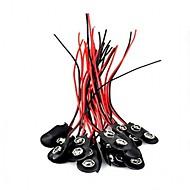 abordables Piezas de Bricolaje y Manualidades-20pcs 9v mecanografía el conector rápido de batería conector de clips de batería de 9 voltios
