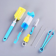 abordables Escobillas y cepillos de mano-Cocina Limpiando suministros Plásticos Cepillo y Trapo de Limpieza Universal / Multifunción 7pcs
