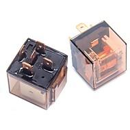 abordables Interruptores-ziqiao 2 pcs 12v 4 enchufe 80a contacto doble relé de concha relé dispositivos de control automotrices conexión rápida tipo de toma