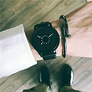 cheap Jewelry & Watches-Men's Dress Watch / Wrist Watch Chinese New Design / Cool Leather Band Vintage / Casual Black / White / Stainless Steel / SSUO 377