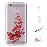 preiswerte Handyhüllen-Hülle Für Xiaomi Redmi 4X Muster Rückseite Schmetterling Weich TPU für Xiaomi Redmi 4X