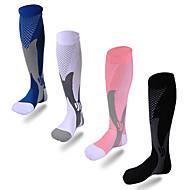 abordables Ropa Deportiva-Unisex Calcetines de compresión Transpirabilidad Nailon