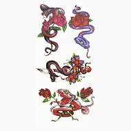 abordables Tatuajes Temporales-1 pcs Tatuajes Adhesivos Los tatuajes temporales Series de Animal / Series de Flor Artes de cuerpo manos / brazo / muñeca
