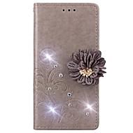 お買い得  携帯電話ケース-ケース 用途 Huawei Y625 / Enjoy 5S ウォレット / カードホルダー / ラインストーン フルボディーケース ソリッド ハード PUレザー のために Huawei Y635 / Huawei Y625 / Huawei Enjoy 6s