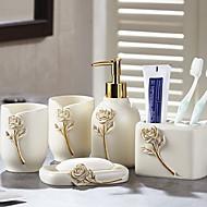 abordables Gadgets de Baño-Set de Accesorios de Baño Nuevo diseño / Múltiples Funciones Moderno Resina 5pcs - Baño Sencilla