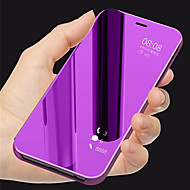 preiswerte Handyhüllen-Hülle Für Huawei Honor 10 mit Halterung / Spiegel / Flipbare Hülle Ganzkörper-Gehäuse Solide Hart PU-Leder für Huawei Honor 10