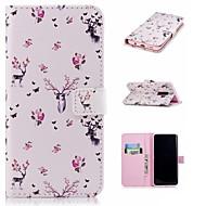 Недорогие Чехлы и кейсы для Galaxy S9 Plus-Кейс для Назначение SSamsung Galaxy S9 Plus / S9 Кошелек / Бумажник для карт / со стендом Чехол Животное Твердый Кожа PU для S9 / S9 Plus / S8 Plus