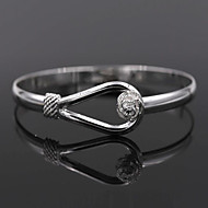 cheap Jewelry & Watches-Women's Bracelet Bangles - Sterling Silver Flower Bracelet Silver For Wedding Party Daily