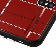 Недорогие Кейсы для iPhone 8 Plus-Кейс для Назначение Apple iPhone X С узором Кейс на заднюю панель Полосы / волосы Твердый Закаленное стекло для iPhone X / iPhone 8 Pluss / iPhone 8