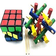abordables Juguetes Educativos-Cubo de rubik z-cube La artesanía de madera / Scramble Cube / Floppy Cube 3*3*3 Cubo velocidad suave Cubos de Rubik rompecabezas del cubo Alivio del estrés y la ansiedad / Alivia ADD, ADHD, Ansiedad