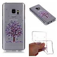 Недорогие Чехлы и кейсы для Galaxy S9 Plus-Кейс для Назначение SSamsung Galaxy S9 Plus / S9 IMD / Прозрачный / С узором Кейс на заднюю панель дерево / Цветы Мягкий ТПУ для S9 / S9 Plus / S8 Plus