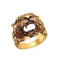 お買い得  -男性用 ホロー 指輪  -  ステンレス鋼 スカル ファッション ゴールド / シルバー 用途 贈り物 / ストリート