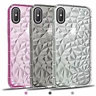 Недорогие Кейсы для iPhone 8-Кейс для Назначение Apple iPhone X / iPhone 8 Plus Покрытие / Зеркальная поверхность / Прозрачный Кейс на заднюю панель Однотонный Мягкий ТПУ для iPhone X / iPhone 8 Pluss / iPhone 8