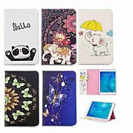 Недорогие Чехлы и кейсы для Galaxy Tab E 9.6-Кейс для Назначение SSamsung Galaxy Tab E 9.6 Кошелек / Бумажник для карт / со стендом Чехол Слон Твердый Кожа PU для Tab E 9.6