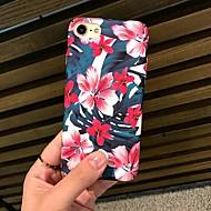 Недорогие Кейсы для iPhone 8-Кейс для Назначение Apple iPhone X / iPhone 8 Матовое / С узором Кейс на заднюю панель Цветы Твердый ПК для iPhone X / iPhone 8 Pluss / iPhone 8