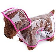 abordables Accesorios para Mascota-Perros / Gatos / Animales Pequeños de Pelo Impermeable Ropa para Perro Un Color / Simple Naranja / Fucsia / Verde Cuero de PU Disfraz Para mascotas Mujer Deportes y Exterior / transparente