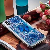Недорогие Кейсы для iPhone 8 Plus-Кейс для Назначение Apple iPhone X / iPhone 8 Plus Защита от удара / Движущаяся жидкость / Прозрачный Кейс на заднюю панель Бабочка Мягкий ТПУ для iPhone X / iPhone 8 Pluss / iPhone 8