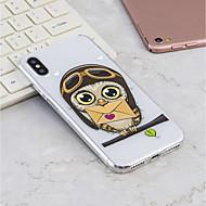 Недорогие Кейсы для iPhone 8 Plus-Кейс для Назначение Apple iPhone X / iPhone 8 Plus С узором Кейс на заднюю панель Сова Мягкий ТПУ для iPhone X / iPhone 8 Pluss / iPhone 8