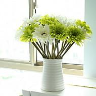 abordables Flores Artificiales-Flores Artificiales 1 Rama Clásico Elegante Crisantemo Flor de Mesa