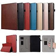 お買い得  携帯電話ケース-ケース 用途 Huawei MediaPad T3 10(AGS-W09, AGS-L09, AGS-L03) カードホルダー / スタンド付き / 磁石バックル フルボディーケース ソリッド ハード PUレザー のために Huawei MediaPad T3 10(AGS-W09, AGS-L09, AGS-L03)