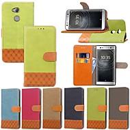 preiswerte Handyhüllen-Hülle Für Sony Xperia XZ2 Compact / Xperia XA2 Ultra Geldbeutel / Kreditkartenfächer / mit Halterung Ganzkörper-Gehäuse Anwendung Hart Textil für Xperia XZ2 / Xperia XZ1 Compact / Sony Xperia XZ1