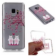 Недорогие Чехлы и кейсы для Galaxy S9-Кейс для Назначение SSamsung Galaxy S9 Plus / S9 IMD / Прозрачный / С узором Кейс на заднюю панель Мультипликация / дерево / Цветы Мягкий ТПУ для S9 / S9 Plus / S8 Plus